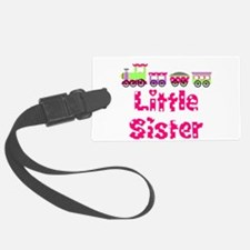 Little Sister Pink Train Luggage Tag