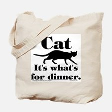 Cat/Dinner. Tote Bag