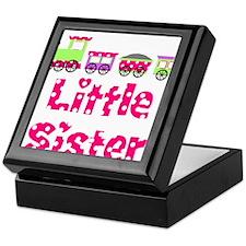 Little Sister Pink Train Keepsake Box