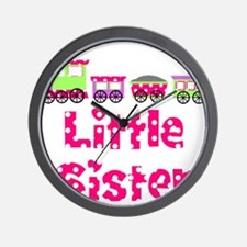 Little Sister Pink Train Wall Clock