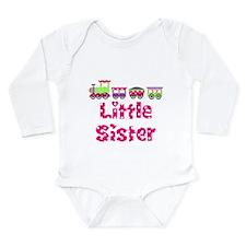 Little Sister Pink Train Body Suit