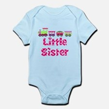 Little Sister Pink Train Body Suit