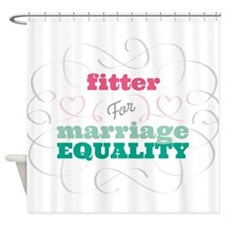 Fitter for Equality Shower Curtain