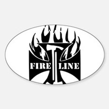 Fire Line IRON CROSS Pulaski Decal
