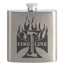 Fire Line IRON CROSS Pulaski Flask