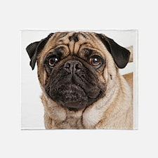 Pug Close-Up Throw Blanket