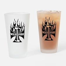 Wild Fire IRON CROSS Pulaski Drinking Glass