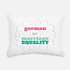German for Equality Rectangular Canvas Pillow