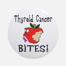 Thyroid Cancer Bites Ornament (Round)