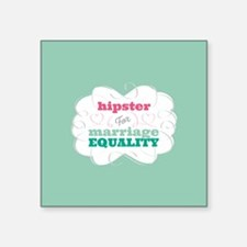 Hipster for Equality Sticker