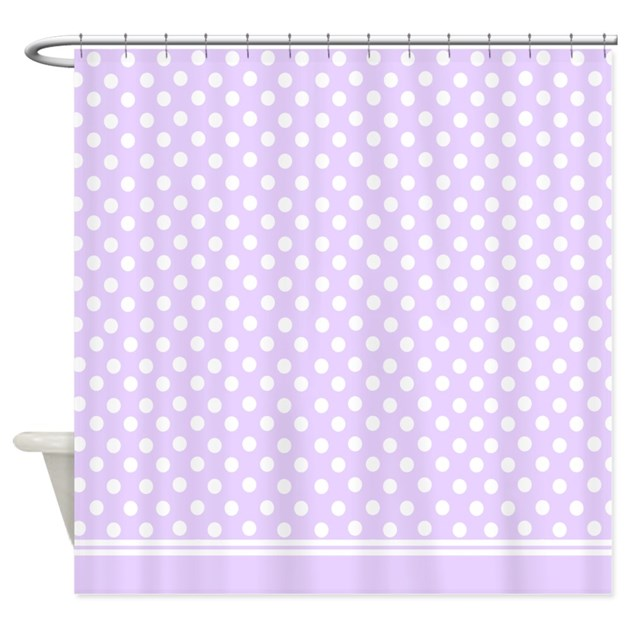 Purple Lilac Polka Dots Shower Curtain By InspirationzStore