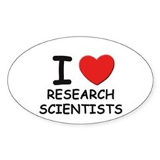 I love researchers Oval Decal