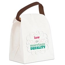 Law for Equality Canvas Lunch Bag