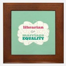 Librarian for Equality Framed Tile