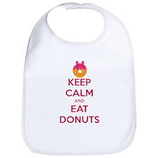 Keep Calm And Eat Donuts Bib