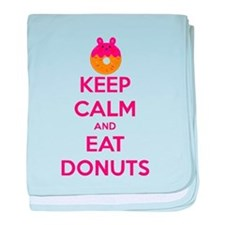 Keep Calm And Eat Donuts baby blanket