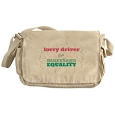 Lorry Driver for Equality Messenger Bag