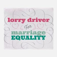 Lorry Driver for Equality Throw Blanket