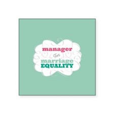 Manager for Equality Sticker