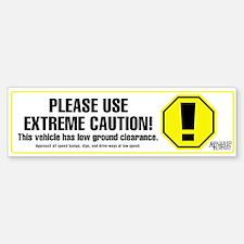 Extreme Caution Bumper Sticker (white)