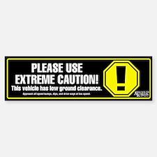 Extreme Caution Bumper Sticker (black)