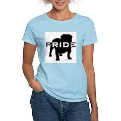 Bulldog Pride Logo Women's Pink T-Shirt