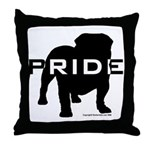Bulldog Pride Logo Throw Pillow