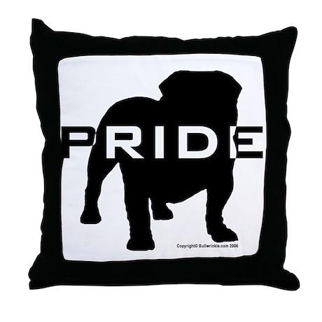Bulldog Pride Logo Throw Pillow