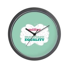 Miller for Equality Wall Clock