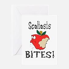 Scoliosis Bites Greeting Card