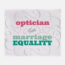 Optician for Equality Throw Blanket
