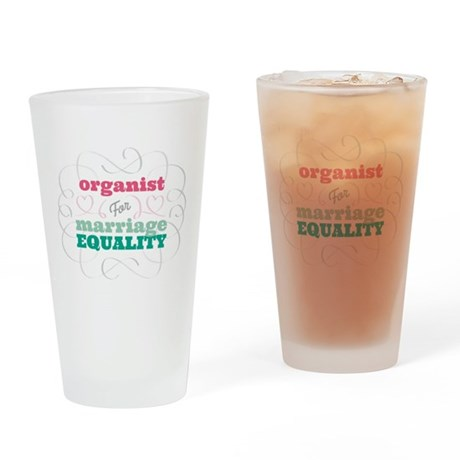 Organist for Equality Drinking Glass