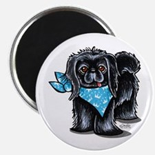 "Black Pekingese Boy 2.25"" Magnet (10 pack)"