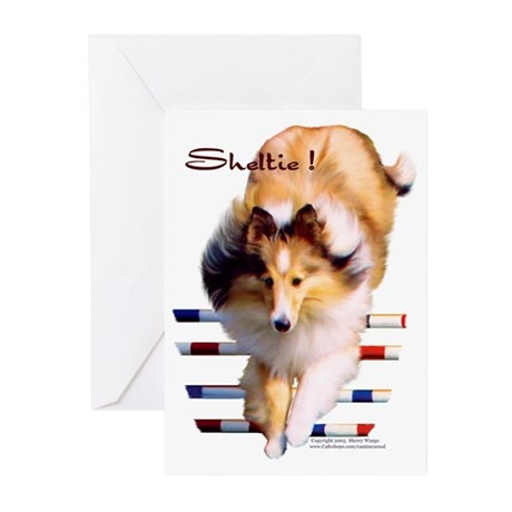 """""""Agility Sheltie"""" NoteCards (Package of"""