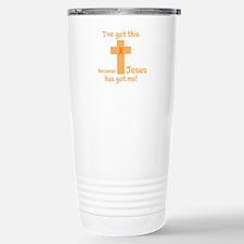 Peach Jesus Has Got Me Travel Mug