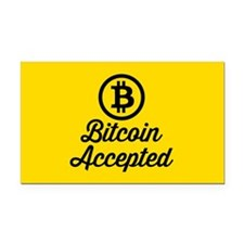 Bitcoin Accepted Rectangle Car Magnet