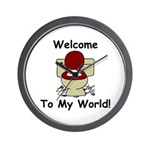 """""""Welcome To My World"""" Wall Clock"""