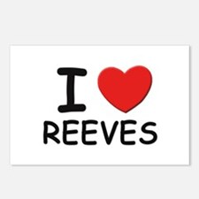 I love reeves Postcards (Package of 8)