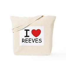 I love reeves Tote Bag