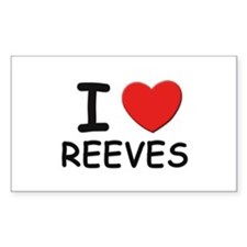 I love reeves Rectangle Decal