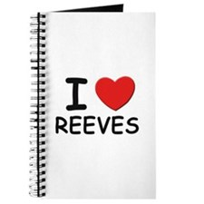 I love reeves Journal