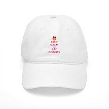 Keep Calm And Eat Donuts Baseball Cap
