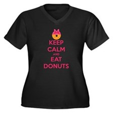 Keep Calm And Eat Donuts Plus Size T-Shirt