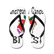 Pancreatic Cancer Bites Flip Flops