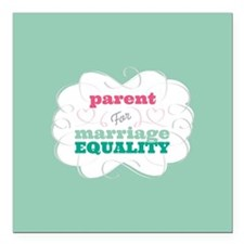 "Parent for Equality Square Car Magnet 3"" x 3"""
