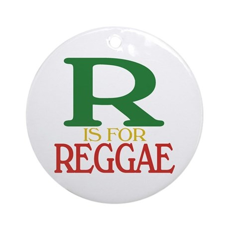 R is For Reggae Ornament (Round)