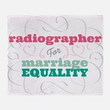 Radiographer for Equality Throw Blanket