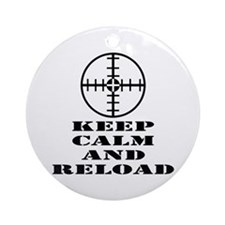 Keep Calm And Reload Ornament (Round)