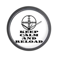 Keep Calm And Reload Wall Clock