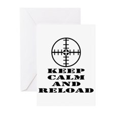 Keep Calm And Reload Greeting Cards (Pk of 20)